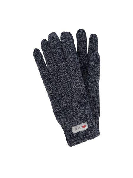 Prążkowane niebieskie rękawiczki Müller Headwear