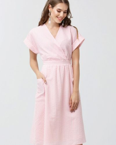 Розовое платье миди Oks By Oksana Demchenko
