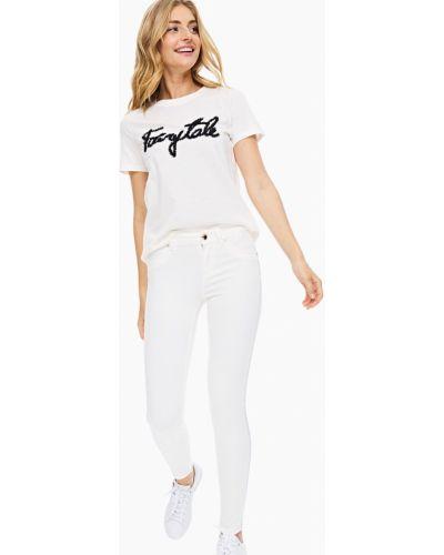 Зауженные джинсы-скинни со стразами айвори Gaudì