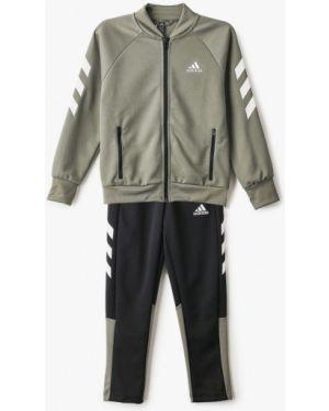 Спортивный костюм зеленый черный Adidas