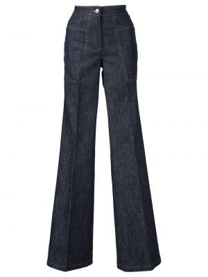 Пляжные расклешенные синие джинсы Derek Lam