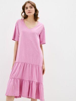 Розовое весеннее платье Selected Femme