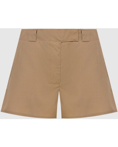 Шерстяные бежевые шорты Prada