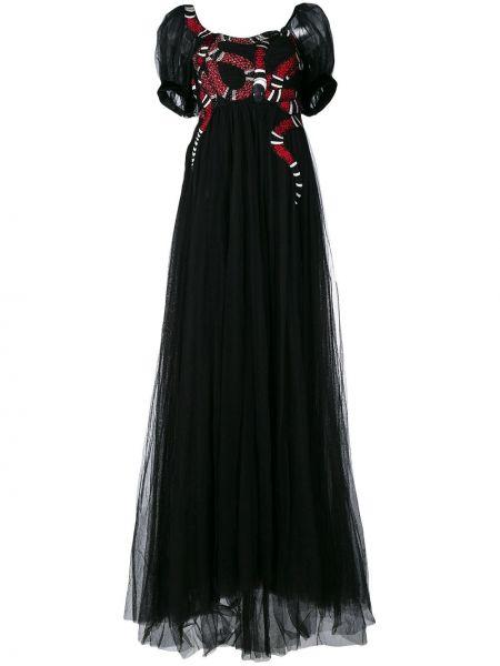 Вечернее платье мини с вышивкой Gucci
