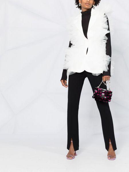Белый классический пиджак на пуговицах с лацканами Loulou