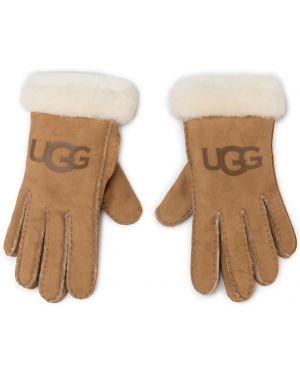 Skórzany rękawiczki baranica z nubuku Ugg