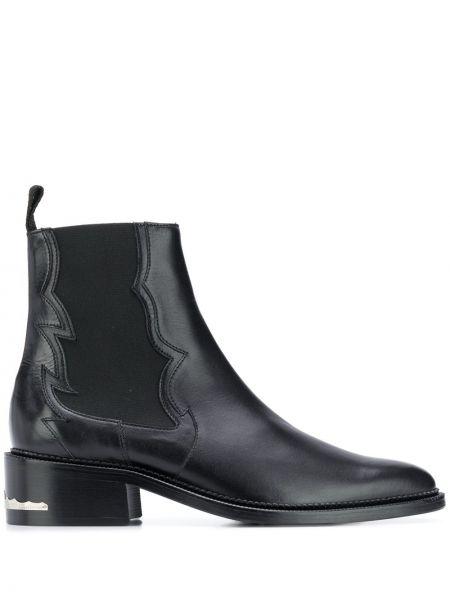 Кожаные черные ботинки челси на каблуке на плоской подошве Toga Virilis