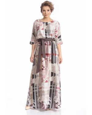 Платье макси с V-образным вырезом с поясом Merlis