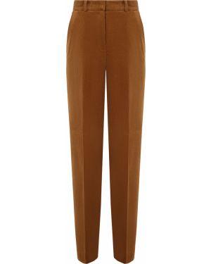 Коричневые брюки с карманами свободного кроя с высокой посадкой Hugo Boss