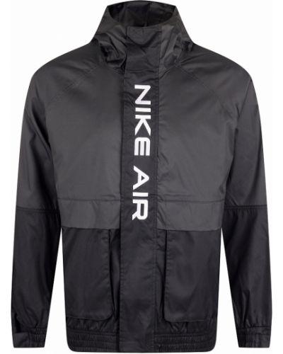 Повседневная черная куртка с вышивкой Nike