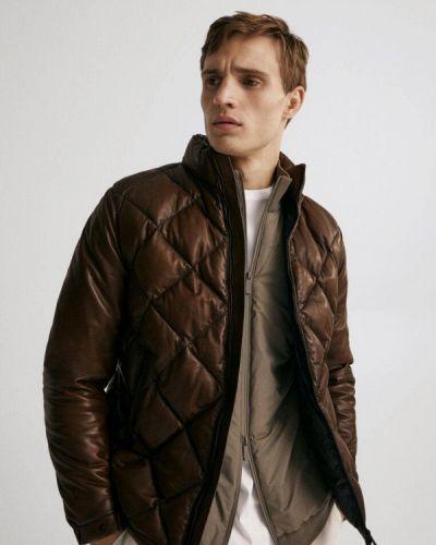 Коричневая демисезонная куртка Massimo Dutti