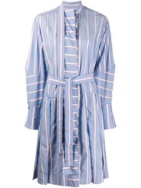 Синее платье на пуговицах с вырезом из вискозы Palmer / Harding
