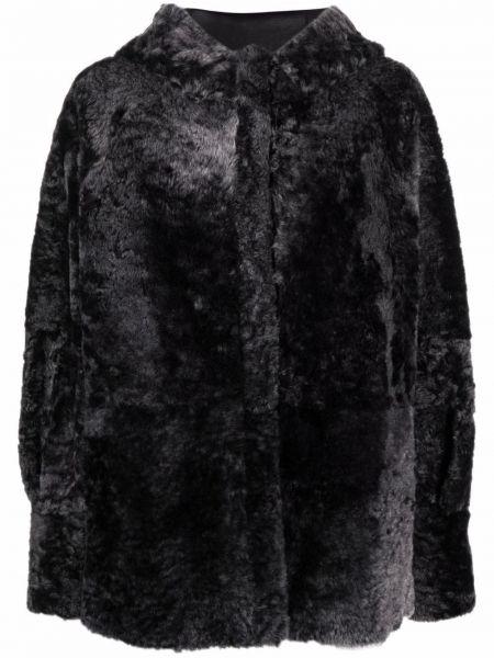 Черная шуба длинная Drome