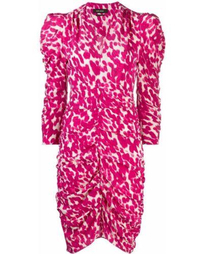 Шелковое платье макси - розовое Isabel Marant