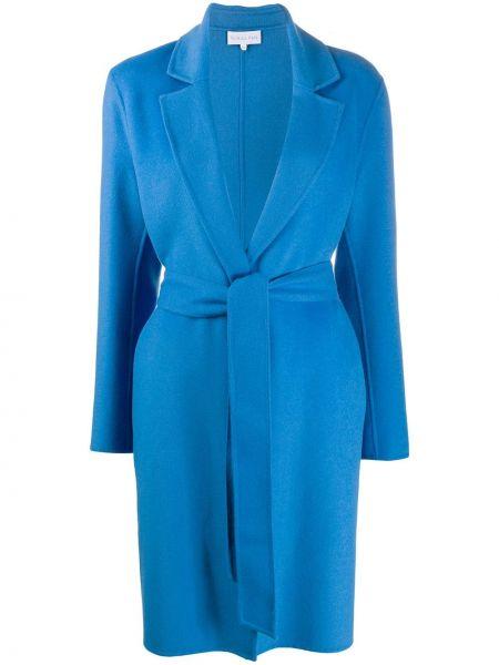 Коралловое шерстяное приталенное длинное пальто Patrizia Pepe