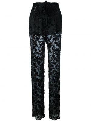 Spodnie czarne spodnie chuligańskie Etro