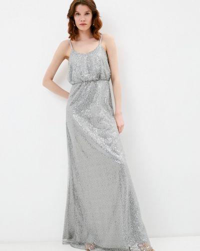 Серебряное вечернее платье Chi Chi London