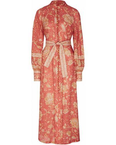 Платье миди на пуговицах с поясом Zimmermann