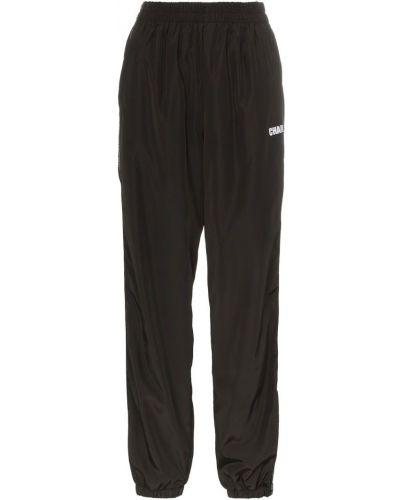 Черные спортивные брюки с поясом Charm`s