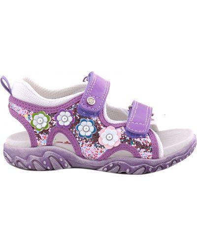 Босоножки фиолетовый текстильные Naturino
