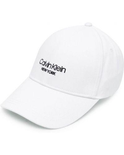 Хлопковая кепка - белая Calvin Klein