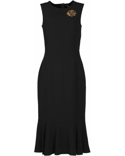 Платье миди коктейльное с вышивкой Dolce&gabbana