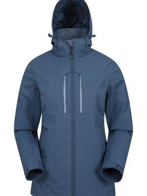 Niebieska kurtka z kapturem z siateczką Mountain Warehouse