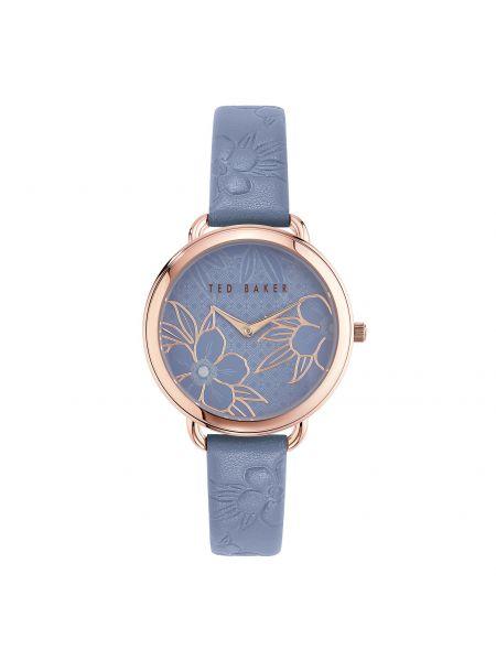 Niebieski złoty zegarek Ted Baker
