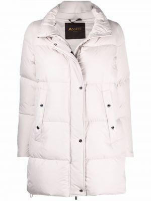 Пуховое стеганое пальто с капюшоном классическое Moorer