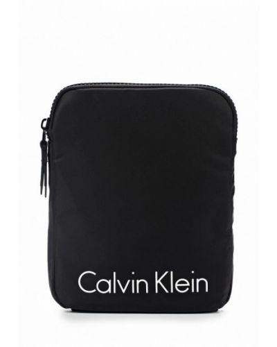 Сумка через плечо кожаная текстильная Calvin Klein Jeans