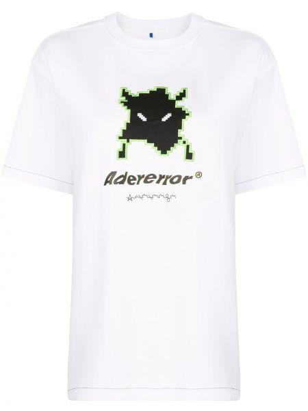 Koszula z krótkim rękawem biała z nadrukiem Ader Error