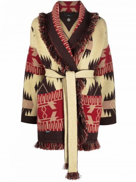 Коричневое длинное пальто Alanui