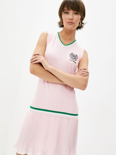 Спортивное розовое платье Plein Sport