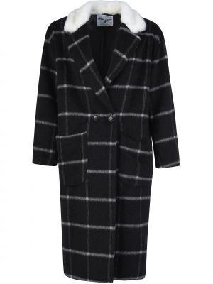 Шерстяное черное пальто с капюшоном Front Street 8
