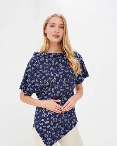 Блузка синяя весенний Tantino
