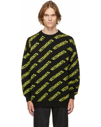 Черный из мериноса свитер Vetements