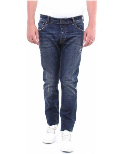 Niebieskie mom jeans Messagerie