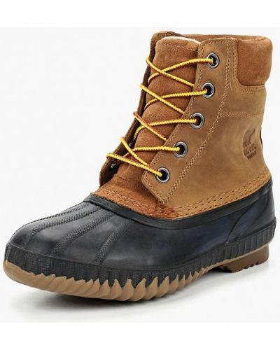 Коричневые ботинки из нубука Sorel