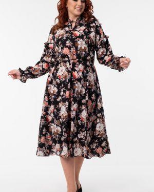 Платье с поясом платье-сарафан на резинке Wisell