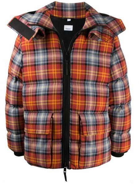 Puchaty prosto klasyczny kurtka z kapturem z kieszeniami Burberry