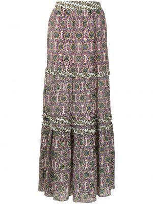 Шелковая с завышенной талией юбка Nicole Miller