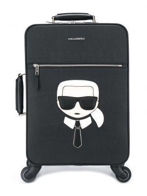 Walizka skórzany z logo Karl Lagerfeld