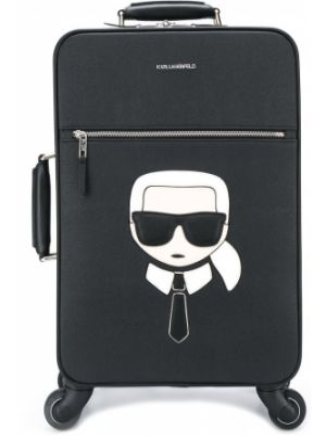 Черный сумка с ручками круглый Karl Lagerfeld