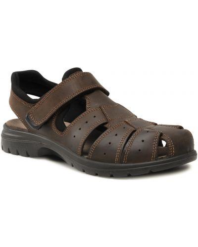 Brązowe sandały na lato Sergio Bardi