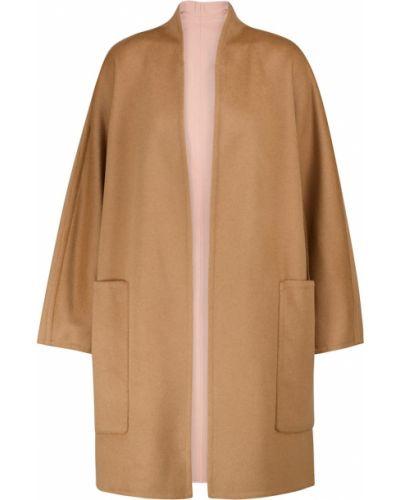 Коричневое шерстяное пальто двустороннее Vince.
