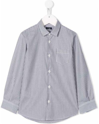 Хлопковая серая рубашка с длинными рукавами Il Gufo