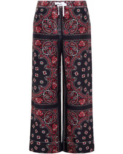 Czarne spodnie koronkowe sznurowane Alexander Wang