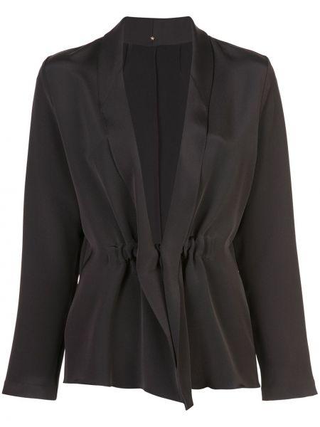 Шелковая черная свободная куртка свободного кроя Peter Cohen