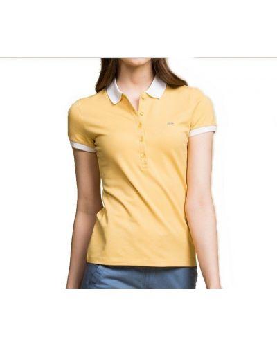 T-shirt bawełniana - biała Lacoste