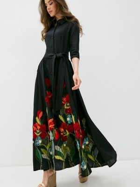 Черное платье Yukostyle
